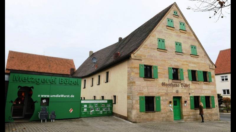 The sausage-themed hotel is the idea of fourth-generation German butcher and proprietor Claus Boebel. (Photo: AFP)