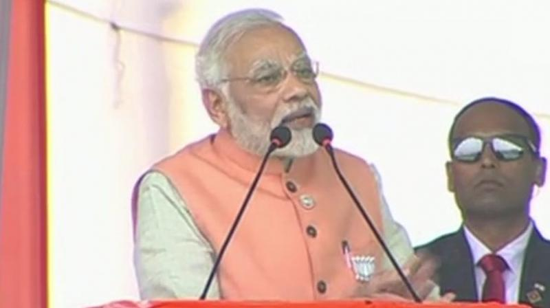 Modi who was addressing an election rally in Surat said Aiyar's comments were an 'insult&#039 to Gujarat