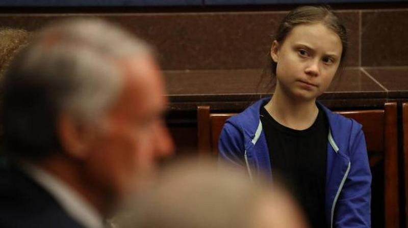 'Please save your praise. We don't want it,'  Thunberg told the Senate Climate Change Task Force. (Photo: AFP)