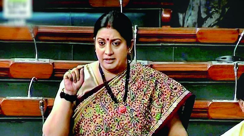Irani said, 'Rahul Gandhi says that if you (IAF pilots) die on duty, he would give money. Leave aside politics; if you look at it from a humanitarian angle, it indicates his mindset.' (Photo: File)