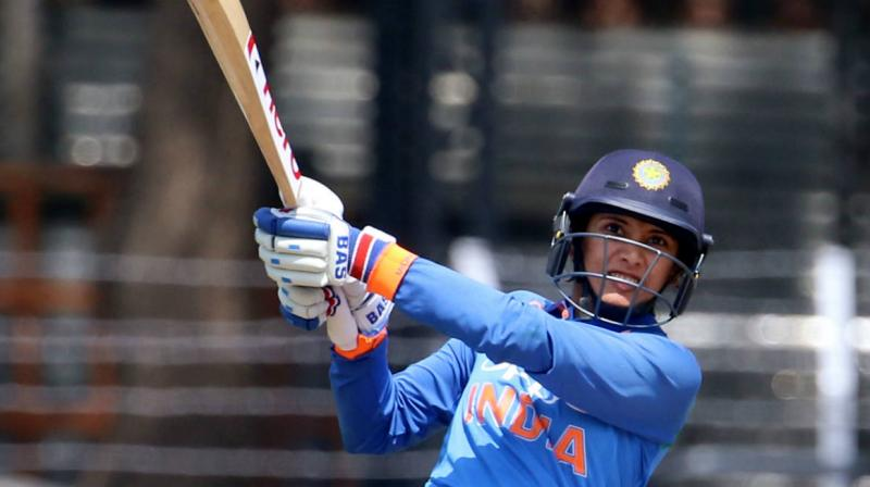 Mandhana, who was the stand-in captain in place of regular skipper Harmanpreet Kaur in the three-match series against England, currently occupies the the third spot in the batting chart with 698 points behind New Zealand's Suzie Bates (767 points) and West Indies' Deandra Dottin (725 points). (Photo: BCCI / File)