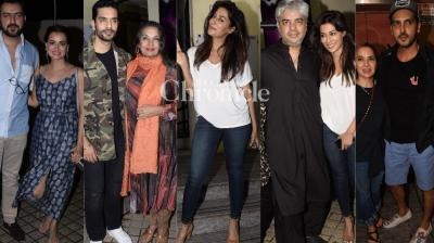 For the third day running, a screening of 'Soorma' was held in Mumbai for Bollywood celebrities on Friday, (Photos: Viral Bhayani)