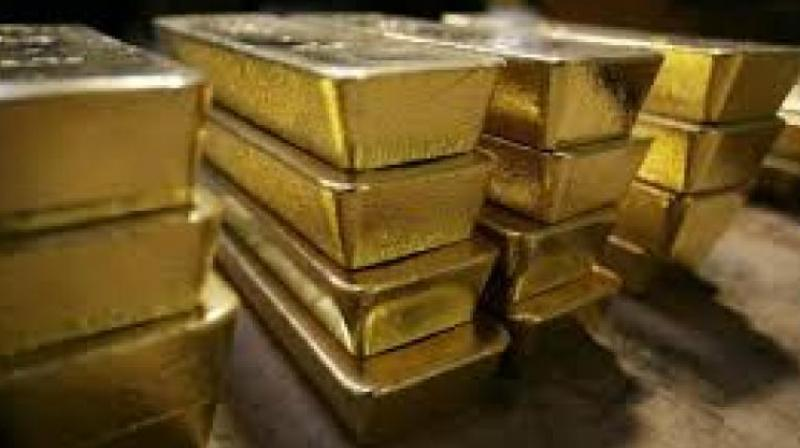 Globally, gold prices traded higher at USD 1290.82 an ounce, while silver was up at USD 15.55 an ounce in New York.