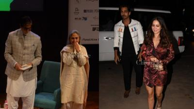 In another eventful day, couples like Amitabh Bachchan-Jaya and Harshvardhan Rane-Kim Sharma were spotted coming out together for professional purposes.