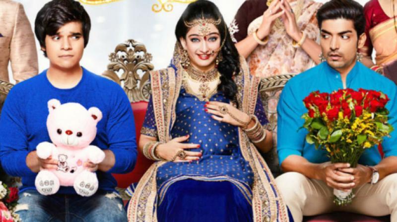 Akshara Haasan, Vivaan Shah and Gurmeet Choudhary in the poster of 'Laali Ki Shaadi Mein Laaddoo Deewana.'