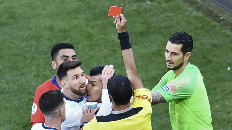 Earlier in the tournament, Messi had criticised the ground conditions in Copa America and had even blasted referring decisions. (Photo: AFP)