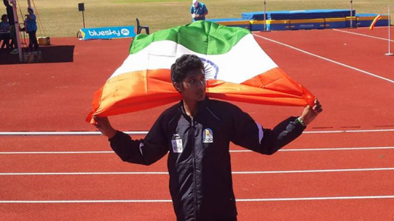 The 17-year-old Tejaswin Shankar achieved the rare feat of a junior athlete breaking the national senior record. (Photo: Facebook)