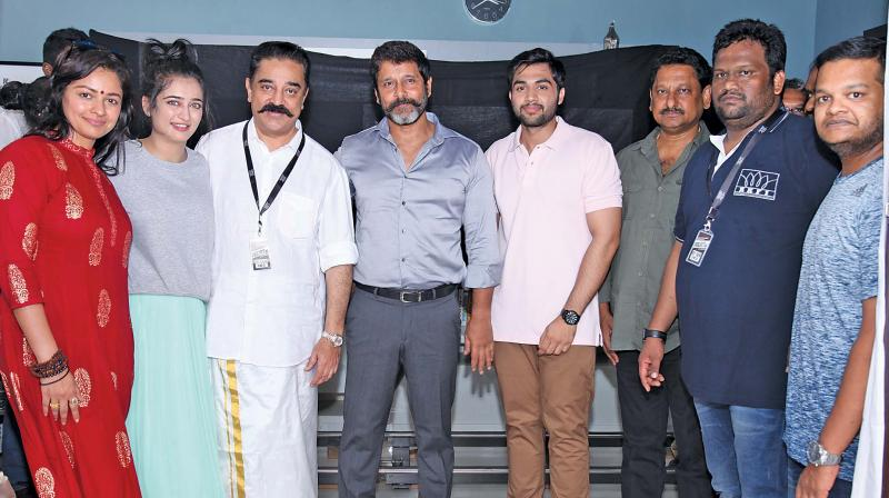 Kamal Haasan launches his next with Vikram
