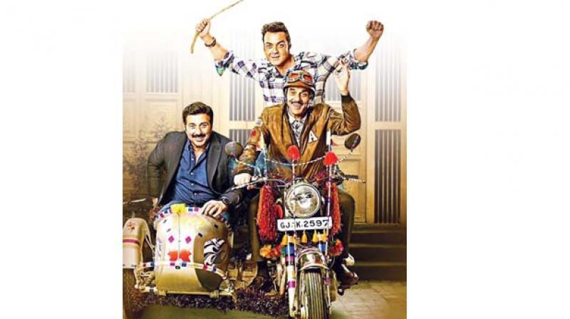 Yamla Pagla Deewana Phir Se movie phoster