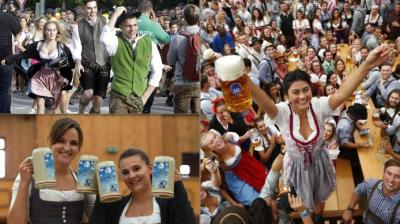 Around 6 million visitors are expected at the festival grounds in Munich before the Oktoberfest ends on Oct. 7 (Photo: AP/AFP)