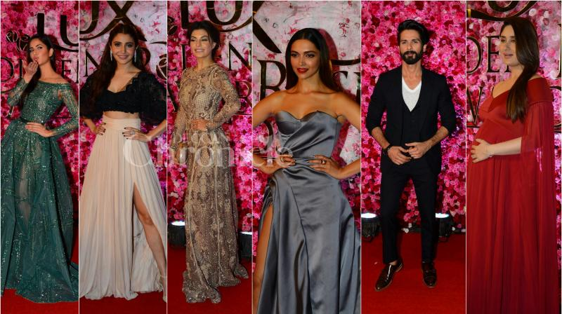 On November 12, Bollywood stars such as Deepika Padukone, Kareena Kapoor Khan, Anushka Sharma, Katrina Kaif and others came down to attend Lux Golden Rose Awards. (Photo: Viral Bhayani)