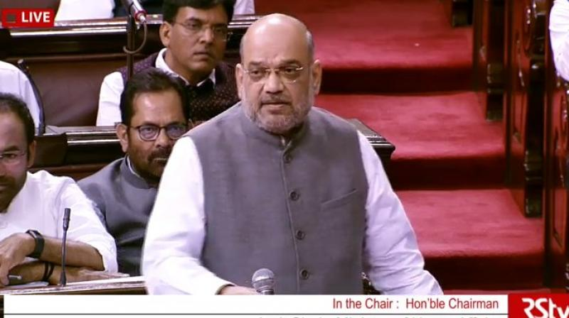 Replying to a debate on the amendment, Home Minister Amit Shah said a four-level scrutiny has been provided in the amendment and no human rights will be violated. (Photo: Twitter/ ANI)
