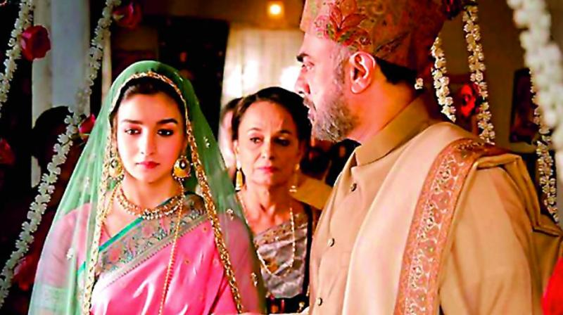 A still from the film Raazi, which was mostly shot in the beautiful valley of Kashmir