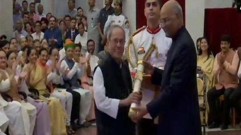 Congress president Rahul Gandhi and CCP chairperson Sonia Gandhi on Thursday skipped the ceremony held at Rashtrapati Bhavan during which former President Pranab Mukherjee was conferred with Bharat Ratna - India's highest civilian award. (Photo: ANI)