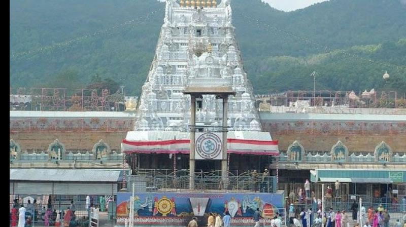 Two US-based NRI entrepreneurs have made a princely donation of Rs 14 crores to the famous hill shrine of Lord Venkateswara at nearby Tirumala on Friday, a temple official said. (Photo: Twitter/ @geetgrewal)