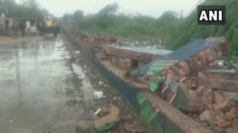 As of Saturday morning, Gujarat had received 77.80 per cent of annual average rainfall, with south Gujarat receiving 98.31 per cent rainfall, Met department data showed. (Photo: Twitter/ ANI)