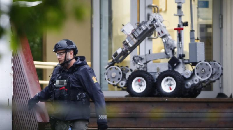 A gunman armed with multiple weapons opened fire in a mosque near the Norwegian capital Oslo on Saturday, injuring one person before being overpowered by an elderly worshipper, police and witnesses said. (Photo: AFP)
