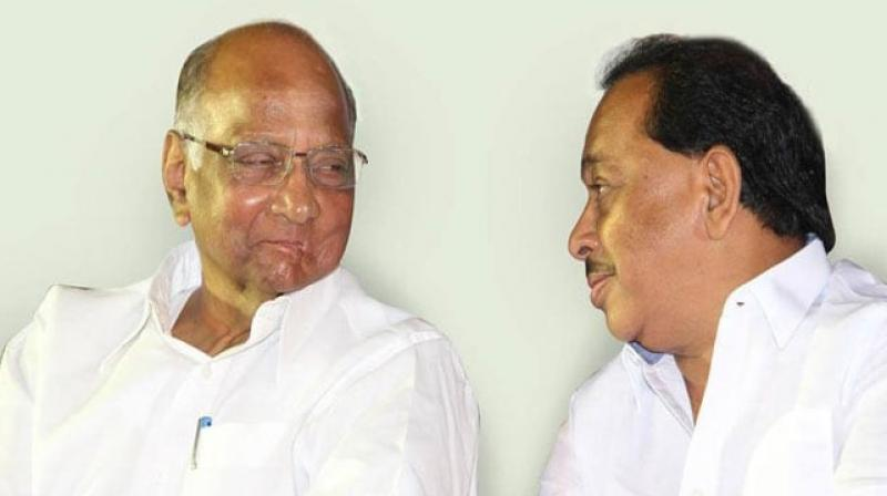 Nationalist Congress Party or NCP chief Sharad Pawar has said that he cannot tell whether former Shiv Sena leader Narayan Rane's move of joining the Congress in 2005 was a mistake or a blunder. (Photo: Twitter/ @Menarayanrane)