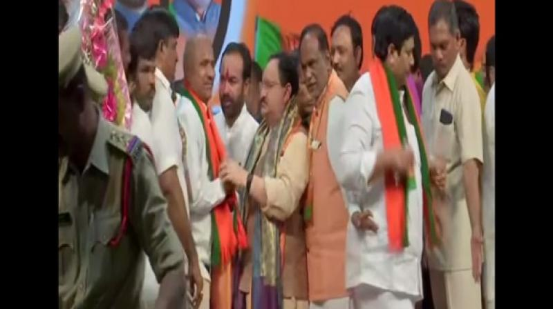 Speaking at the event, Nadda said that the BJP will elect its national president before December 31. (Photo: ANI)