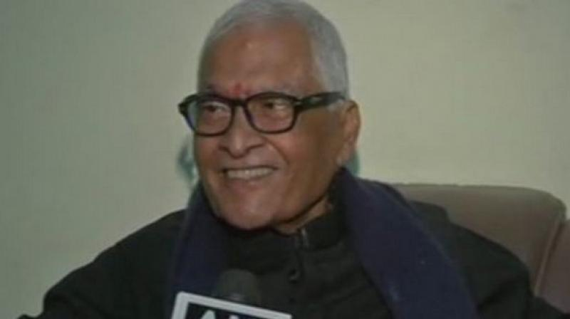 Former Bihar Chief Minister Jagannath Mishra passed away on Monday morning in New Delhi after a prolonged illness. (Photo: ANI)
