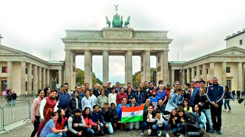 50 runners from the city participated in the annual BMW Berlin Marathon — a major sporting event that attracts both professional athletes and amateur runners from all over the world.