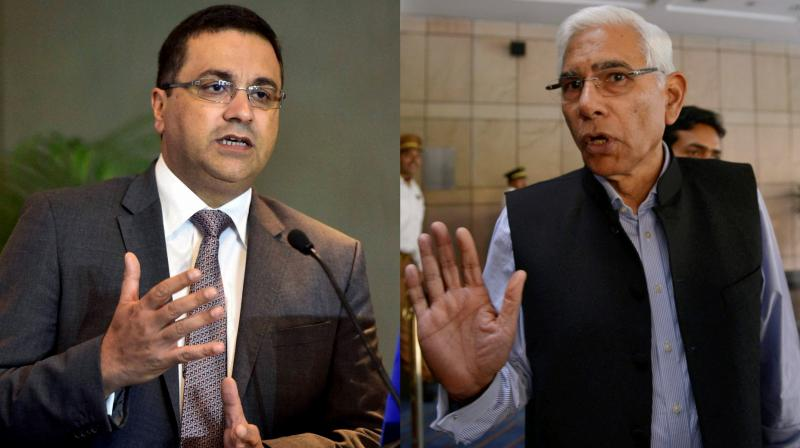 Neither the Committee of Administrators (CoA) head Vinod Rai nor the BCCI's Internal Complaints Committee member, advocate Karina Kriplani, confirmed whether BCCI CEO Rahul Johri has filed his reply or sought more time at the end of the allotted seven days. (Photo: PTI)