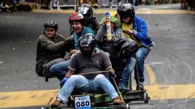 It is the largest automotive showcase of Medellin. (Photo: AFP)