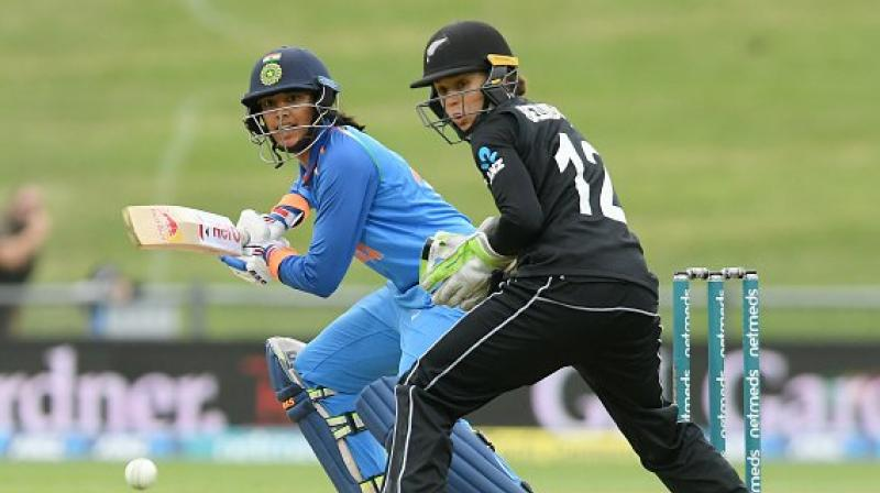 The 22-year-old Mandhana has been in excellent form in recent times and Tuesday's half century was her eighth in the last 10 ODI innings. She hit 105 in the first match of the ongoing series. (Photo: Twitter / BCCI Women)
