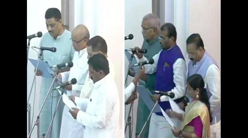 8 new MPs were inducted in the Bihar cabinet from Nitish Kumar's JD(U). (Photo: ANI)