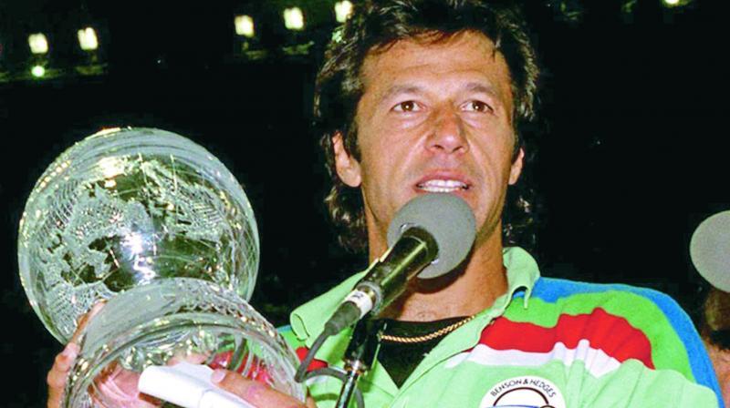 Pakistan skipper Imran Khan.