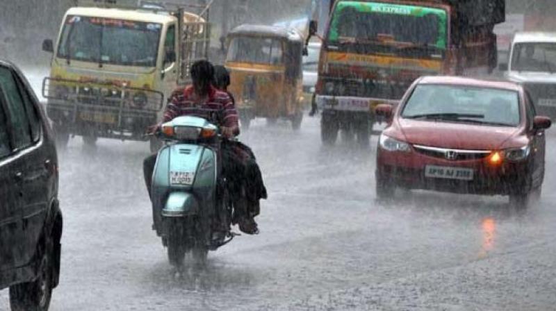 The highest quantum of rainfall was received in Nalgonda, Ranga Reddy, Khammam, Karimnagar, Mahbubnagar and Nizamabad. (Representational Image)