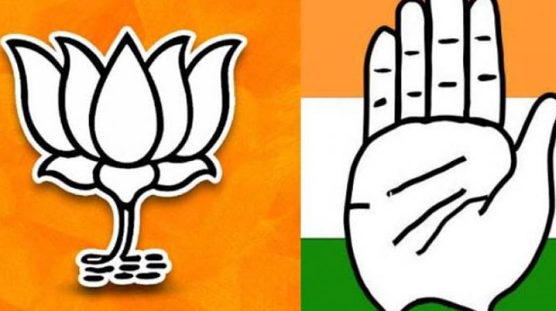 BJP and Congress party logo