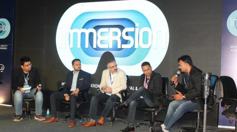 Among the industry personalities who spoke at immersion were Chaitanya Chunduri, Country Lead, India - AR/VR, Google, Nathan Gaydhani, Immersive Professional Services Consultant SystemActice,Arnav Neel (Blippar- MD), Apul Nahata Kalpnik VR -Co Founder, Miheer Walavalkar—LivelikeVR Founder-Ceo, Pankaj Raut from NXG Dimension- Ajnalens and other.