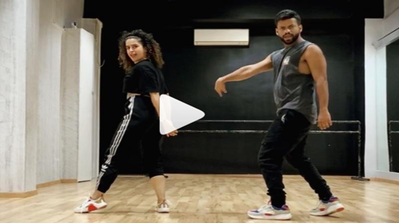Video: Sanya Malhotra aces Hrithik Roshan-starrer raging song 'Ghungroo'; watch