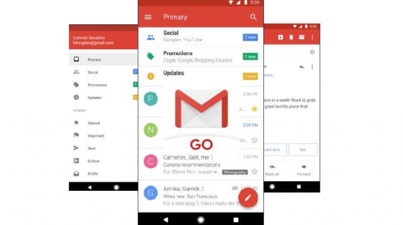 Gmail Go for low-end devices arrives on Google Play