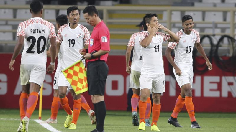 Stephen Constantine's side cannot lose to Bahrain -- to whom India lost 2-5 in the 2011 Asian Cup -- by a big margin as goal difference will get the first preference while deciding which team makes it to the Round of 16 among third place sides of equal points. (Photo: AP)