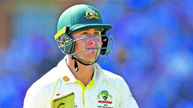 Marnus Labuschagne missed out on a maiden Test ton as he top-scored for Australia with 80.