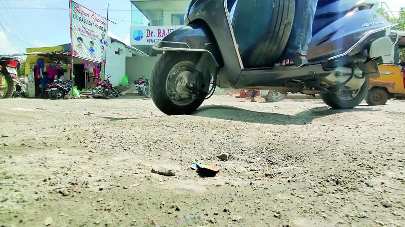 The Hanamkonda bus station road which is also called 'the massage road' by the people. (Photo: DC)