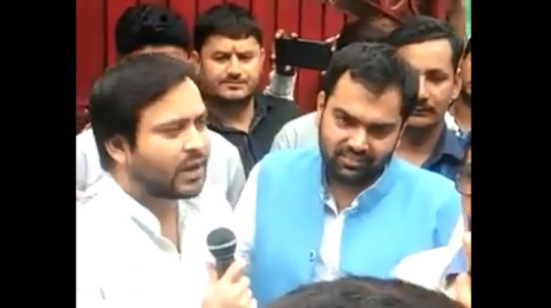 On Thursday, he was spotted in Haryana's Rewari, where he had gone to accompany his brother-in-law Chiranjeevi Rao as he filed his nomination as a Congress candidate. (Photo: Screengrab)