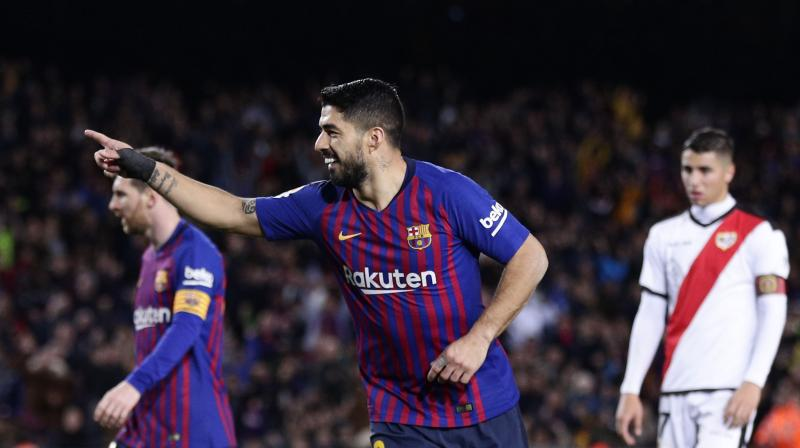 Barcelona came from behind to beat Rayo Vallecano, ahead of their crunch Champions League second leg against Lyon. (Photo: AP)