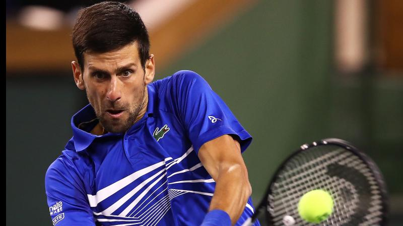 Djokovic went down an early break to the 128th-ranked Fratangelo, but leveled the set with a break for 5-5. (Photo: AFP)