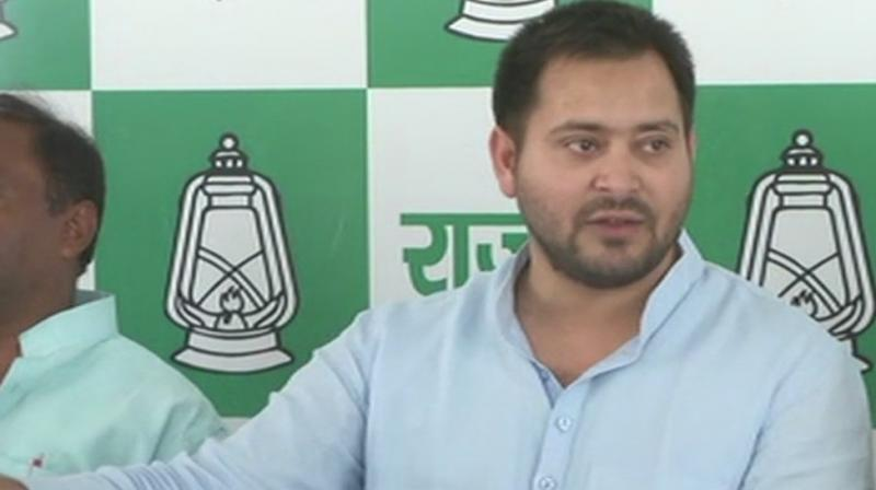 Tejashwi Yadav even criticised the Bihar government of shielding the accused in the Muzaffarpur shelter home sexual assault case after a photo of its owner Brajesh Thakur being felicitated by Nitish Kumar emerged. (Photo: File | ANI)