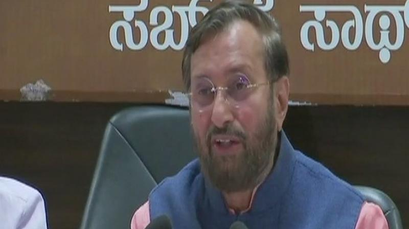 'Whatever BJP has done in Karnataka is in accordance with rule book,' Union Minister Prakash Javadekar said. (Photo: ANI/Twitter)