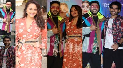 On Monday, Sonakshi Sinha launched trailer of her next Khandaani Shafakhana trailer in Mumbai. Apart from Sonakshi, the grand launch was also attended by her co-stars Badshah, Priyansh Jora and others. (Photos: Viral Bhayani)