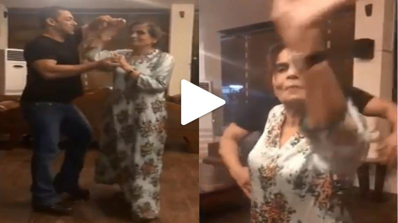 Video: Salman Khan wants his mom to dance, her unexpected reaction is worth watching