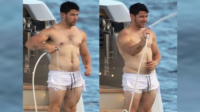 Nick Jonas' shirtless pictures. (Photo: Twitter)