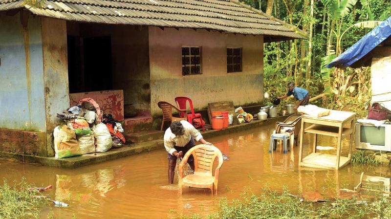 Cleaning work begun in Kerala