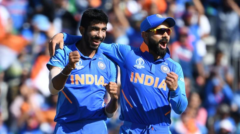 Kohli was the top-scorer for India as he played a knock of 72 runs. (Photo: Cricket World Cup/Twitter)