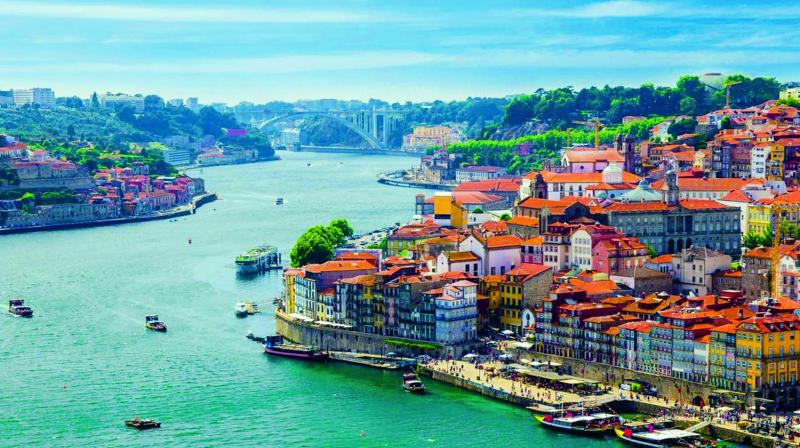 An aerial view of Porto, a city in Portugal