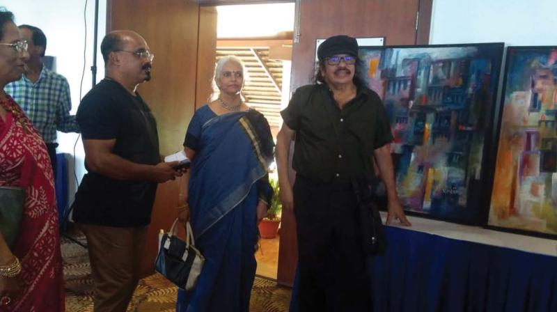Manilal and Shanti with Soorya Krishnamoorthy